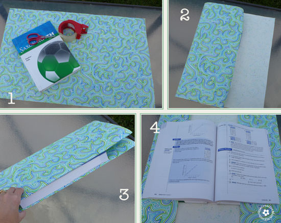 Homemade Book Cover Ideas ~ Diy paper book cover onecreativemommy