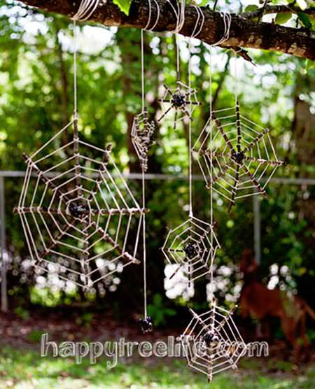 DIY Spiderwebs from Happy Tree Life