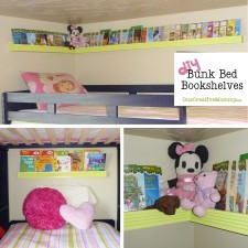 DIY Bunkbed Bookshelves