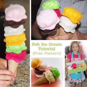 Felt Food Ice Cream Tutorial