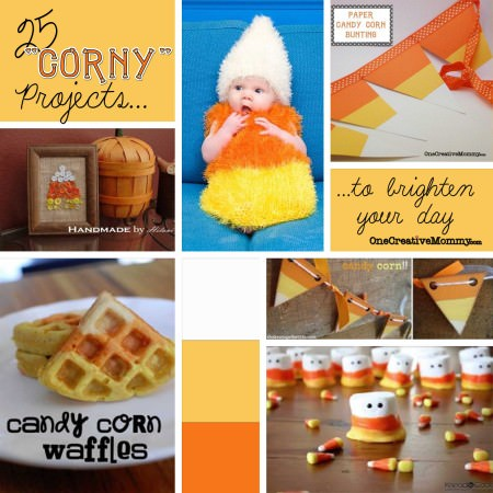 25 Candy Corn Projects to Brighten Your Day {OneCreativeMommy.com}