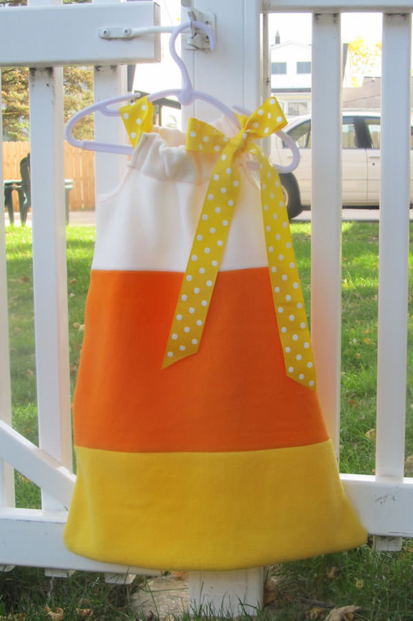 25 Candy Corn Projects to Brighten Your Day--Candy Corn Costume from Snippets of My Family, Faith, and Crafting