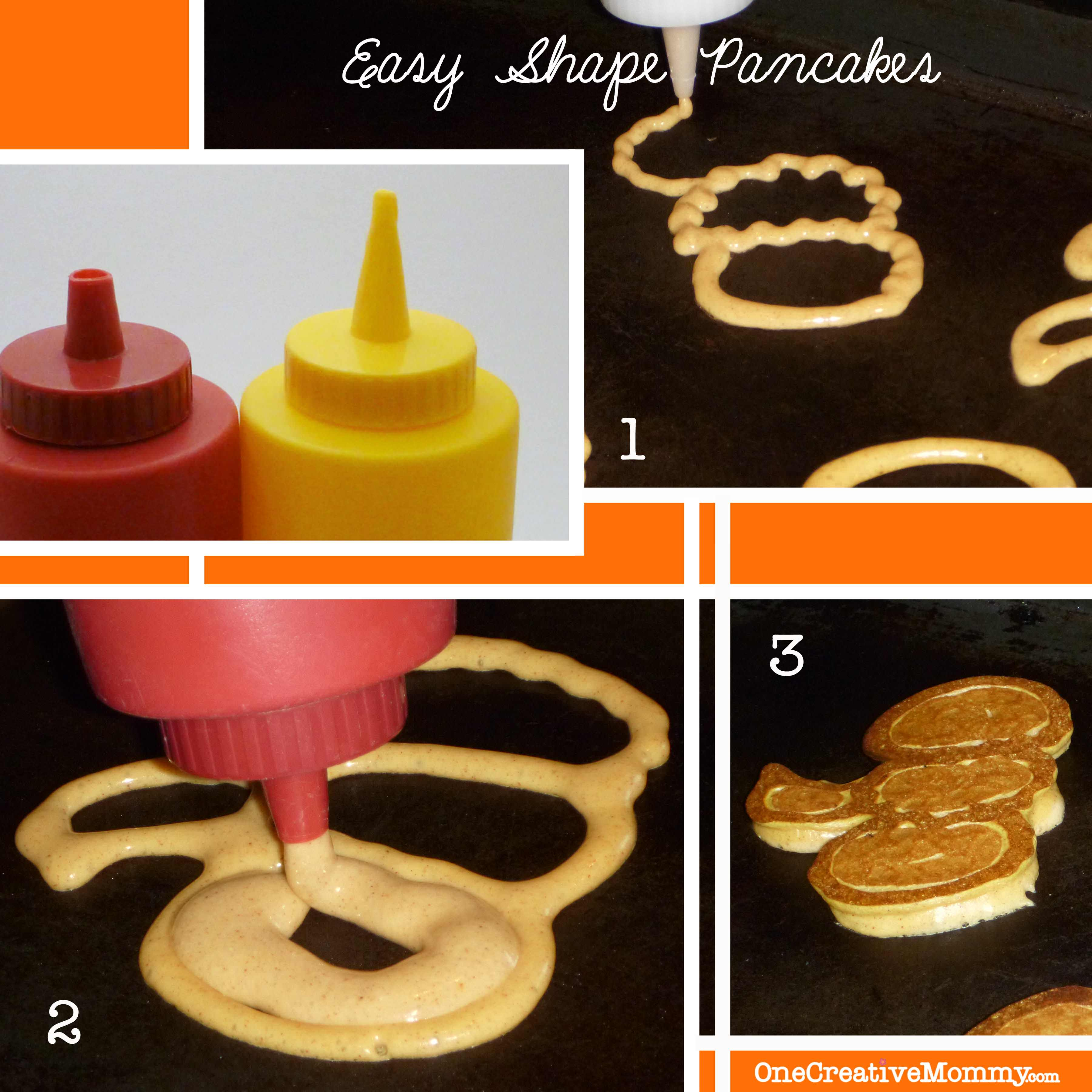 Steps to Create Halloween Shape Pancakes