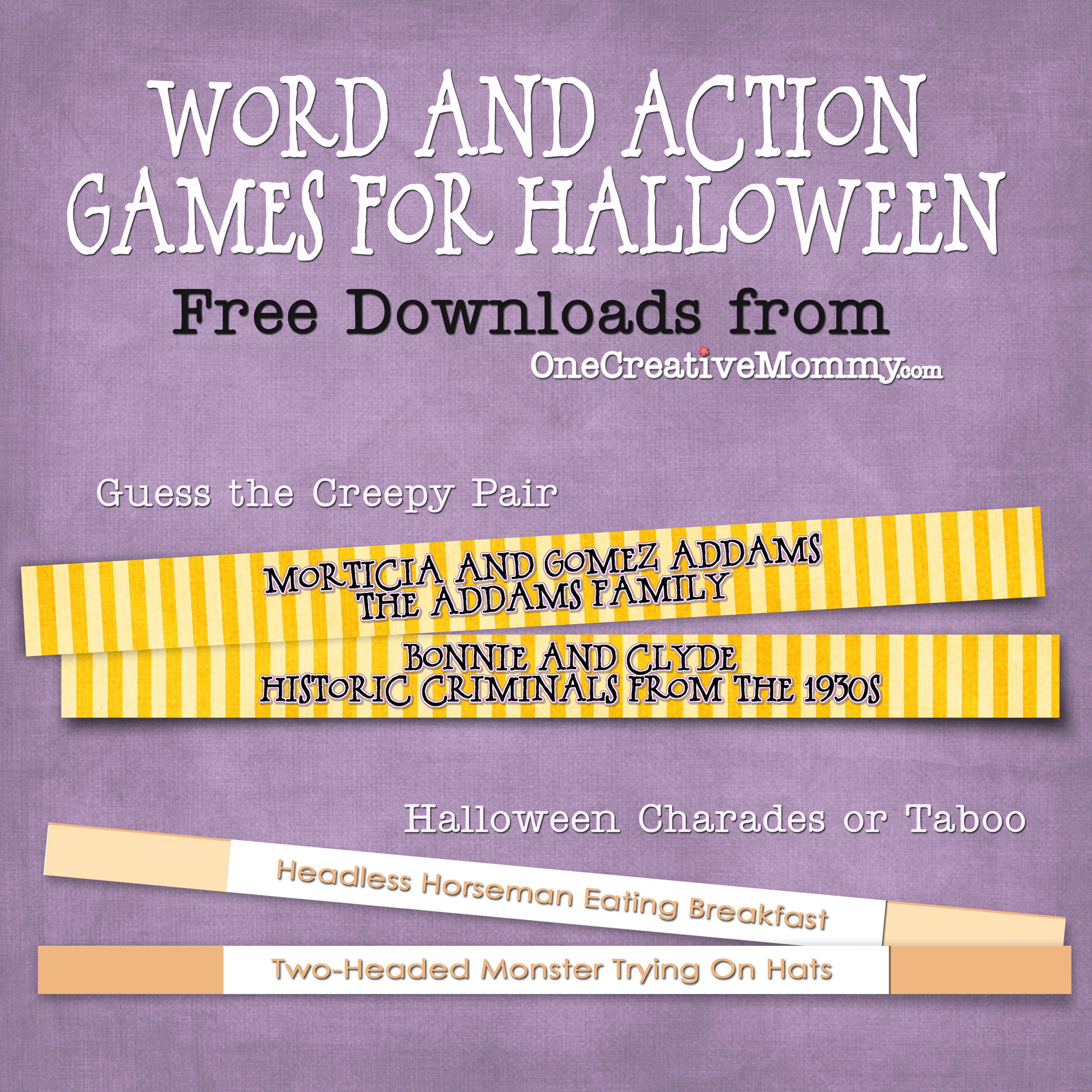 Halloween Word and Action Games. The charades were perfect for ...