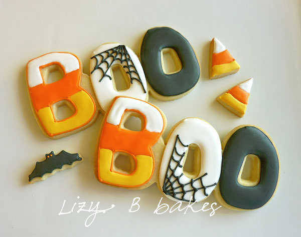 25 Candy Corn Projects to Brighten Your Day--Candy Corn Boo Cookies