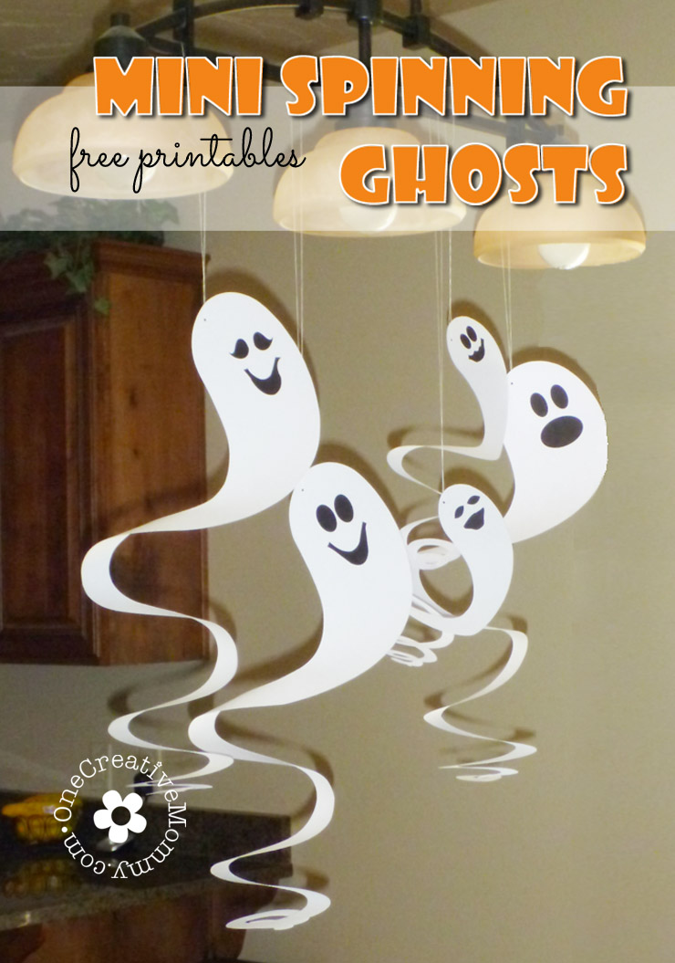 Mini Spinning Ghosts and Free Pattern