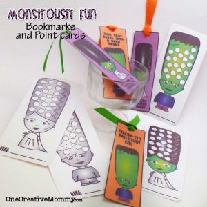 Monstrously Fun Book Marks and Point Cards