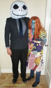 Jack Skellington and Sally--Awesome homemade costumes by Andrea!