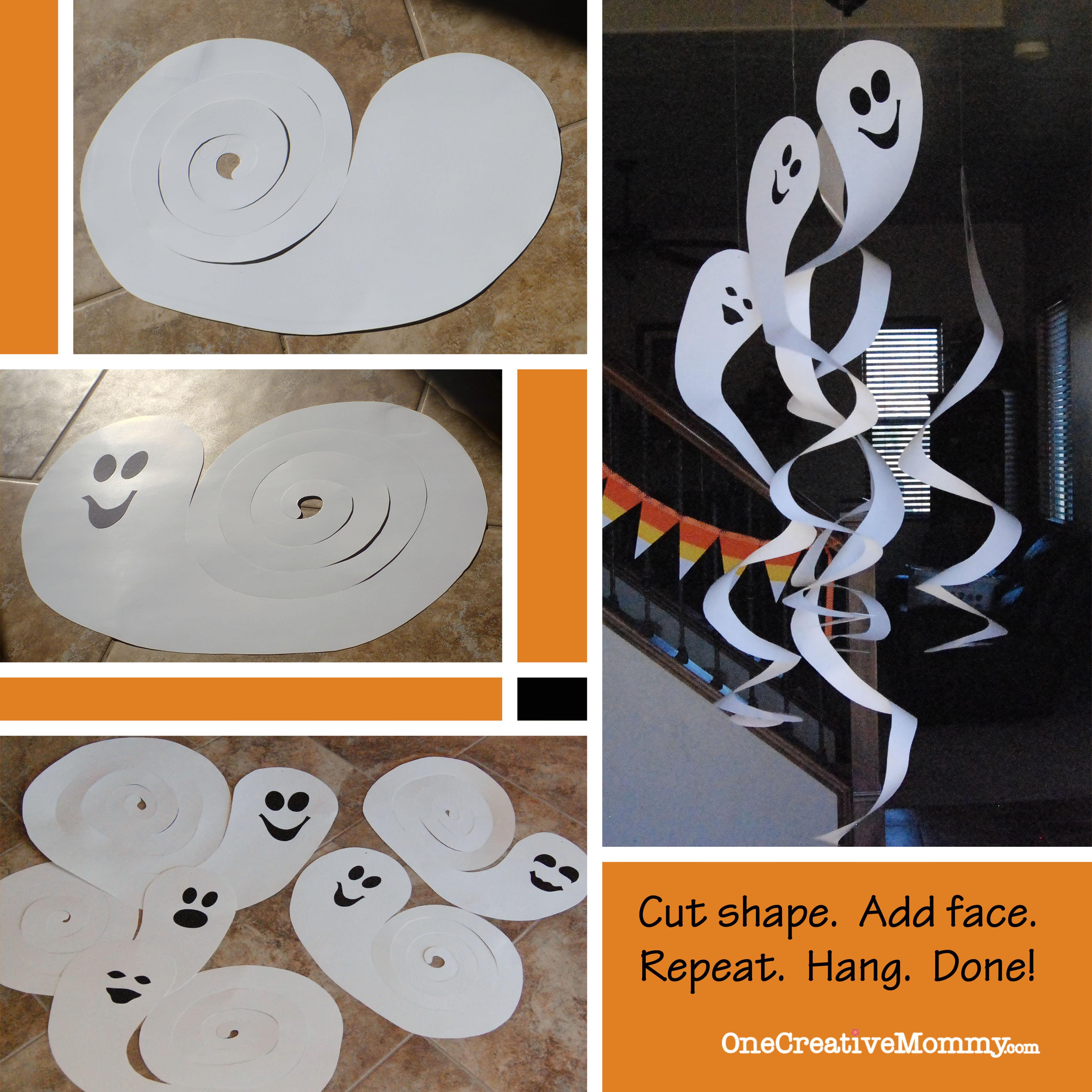 frugal decorating for halloween cardboard spinning ghosts. Black Bedroom Furniture Sets. Home Design Ideas