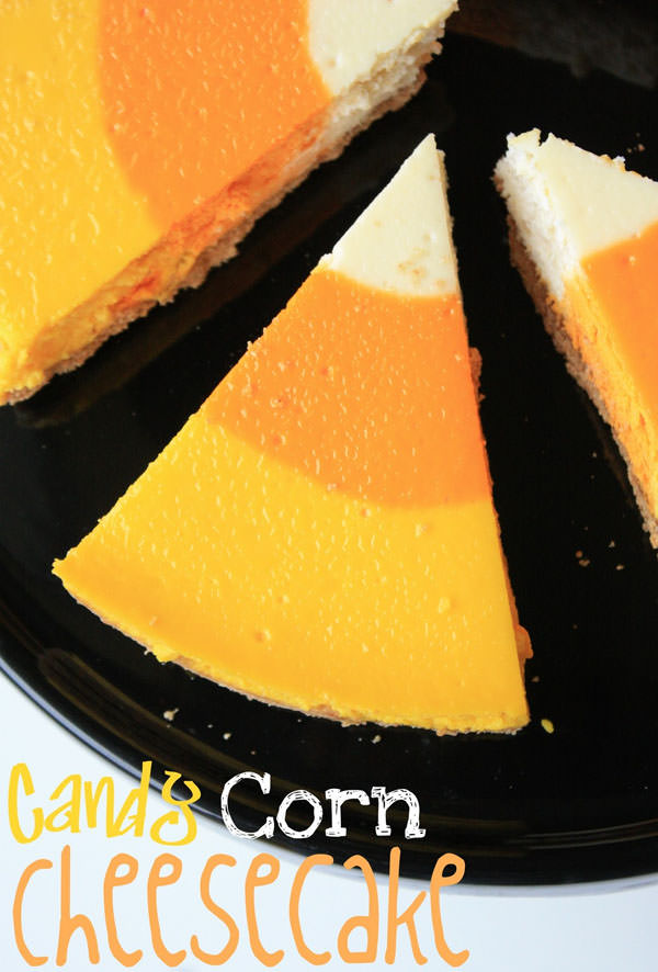 Candy Corn Cheesecake from Munchkin Munchies #candycorn #recipes