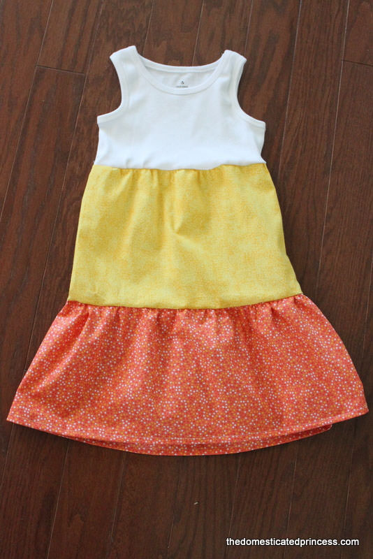 25 Candy Corn Projects to Brighten Your Day--Adorable Candy Corn Dress from The Domesticated Princess