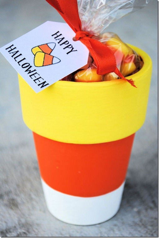 25 Candy Corn Projects to Brighten Your Day--Candy Corn Pot
