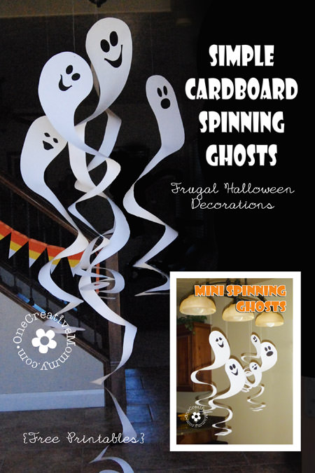 Cardboard Spinning Ghosts | One Creative Mommy