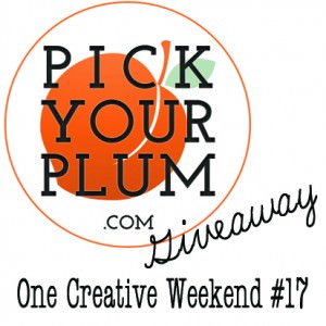 $25 Pick Your Plum Giveaway and One Creative Weekend Linky Party at OneCreativeMommy.com