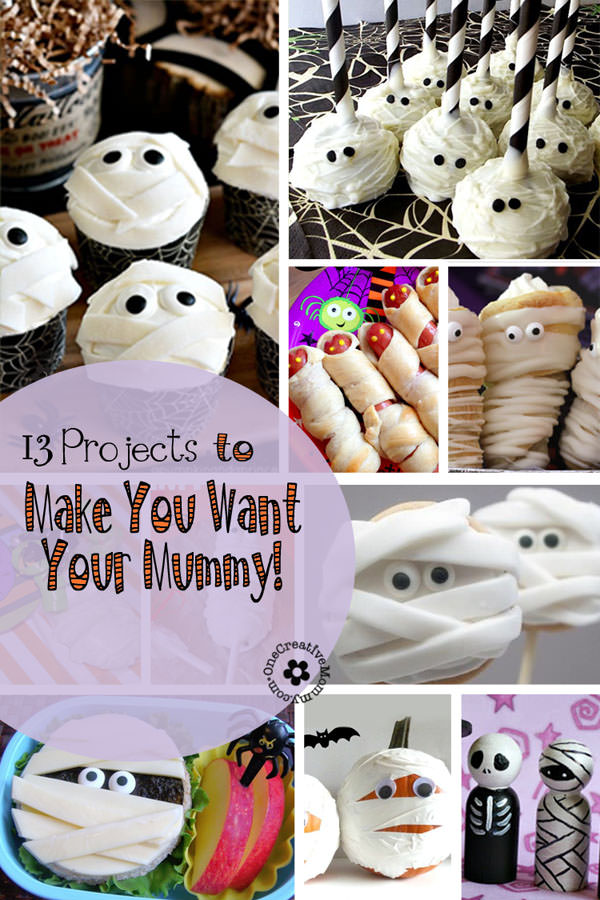 Halloween Mummy Projects {13 Crafts to Make You Want Your Mummy!} OneCreativeMommy.com