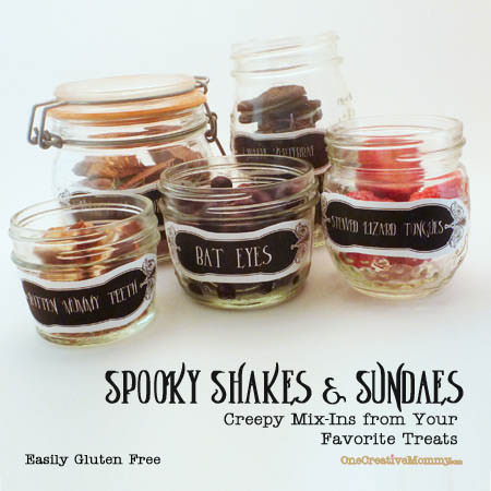 Halloween Treats: Spooky Shakes and Sundaes {OneCreativeMommy.com} Spice Up Your Next Party! #halloweentreats