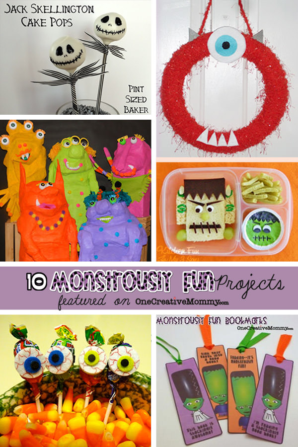10 Monstrously Fun Projects Perfect for Halloween! {OneCreativeMommy.com} #halloween #halloweencrafts