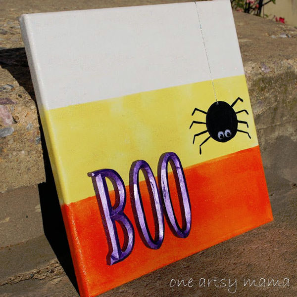 25 Candy Corn Projects to Brighten Your Day--Candy Corn Canvas