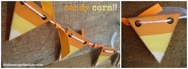 25 Candy Corn Projects to Brighten Your Day--Candy Corn Garland