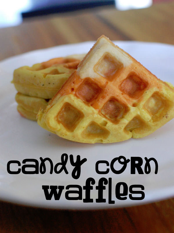 25 Candy Corn Projects to Brighten Your Day--Candy Corn Waffles