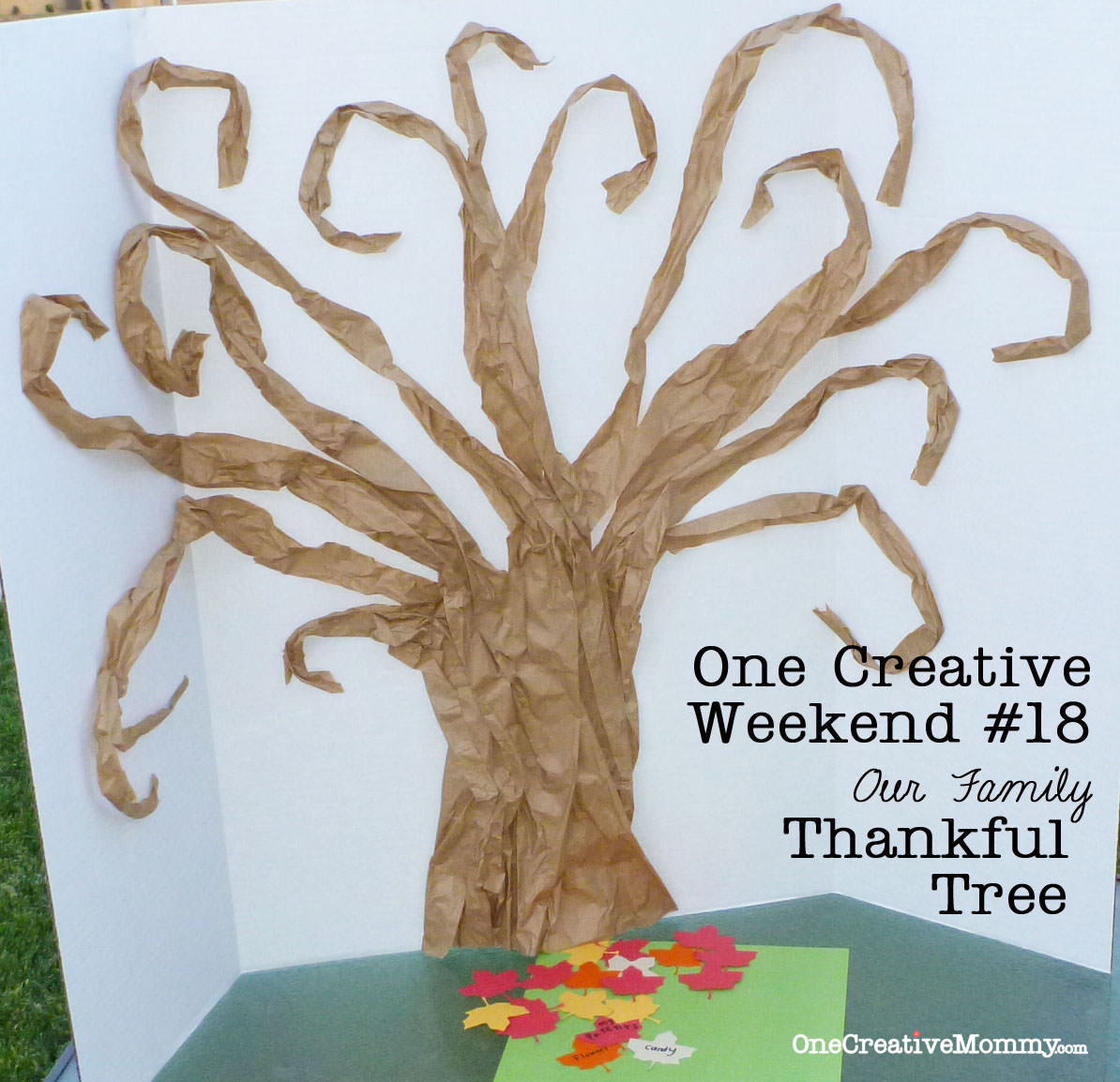 Thankful Tree Tutorial - onecreativemommy.com for Creative Family Trees For Kids  lp0lpmzq