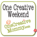 OneCreativeWeekend on OneCreativeMommy.com {Party opens every Thursday at 8pm MST}