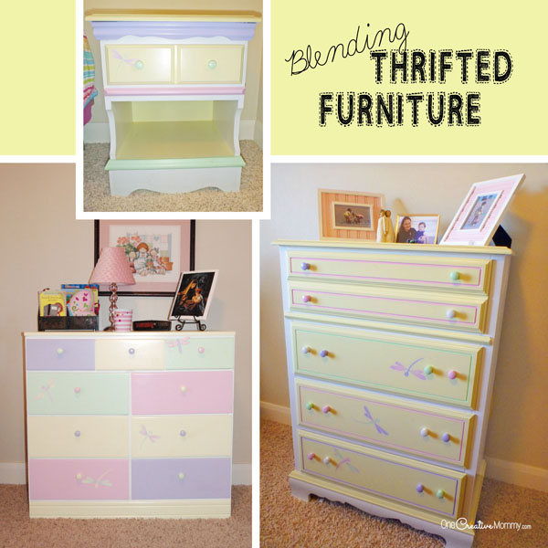 Create This Whimsical Look For A Little Girlu0027s Room By Blending Mismatched  Thrifted Furniture With Paint