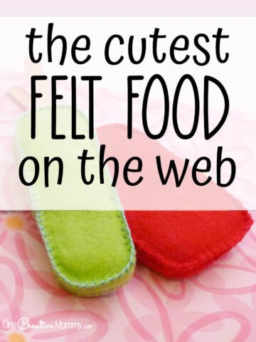 the cutest collection of felt food