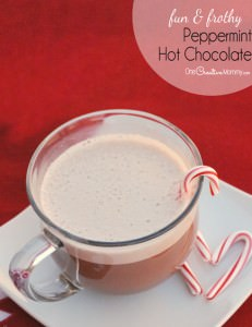 Fun and Frothy Peppermint Hot Chocolate