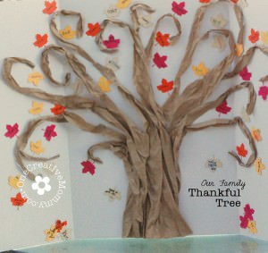 Family Thankful Tree from OneCreativeMommy.com