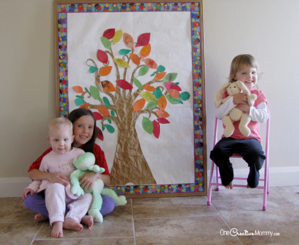 Thanksgiving Thankful Tree Tutorial {OneCreativeMommy.com}