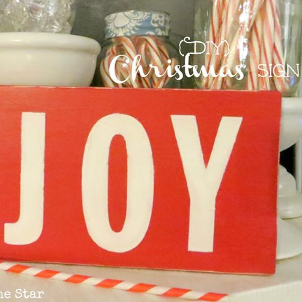 12 Days of Christmas Day 9 {Joy Wooden Sign}