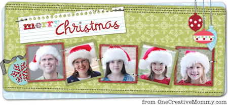 Merry Christmas from OneCreativeMommy.com