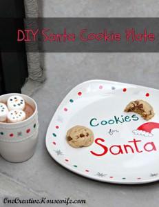 DIY Santa Cookie Plate Craft for Kids