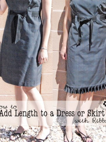 How to Add Length to a Dress or Skirt with Ribbon Tutorial {Full Instructions and Lots of Pictures} OneCreativeMommy.com