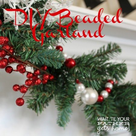 12 Days of Christmas Day 10 {Beaded Christmas Garland}