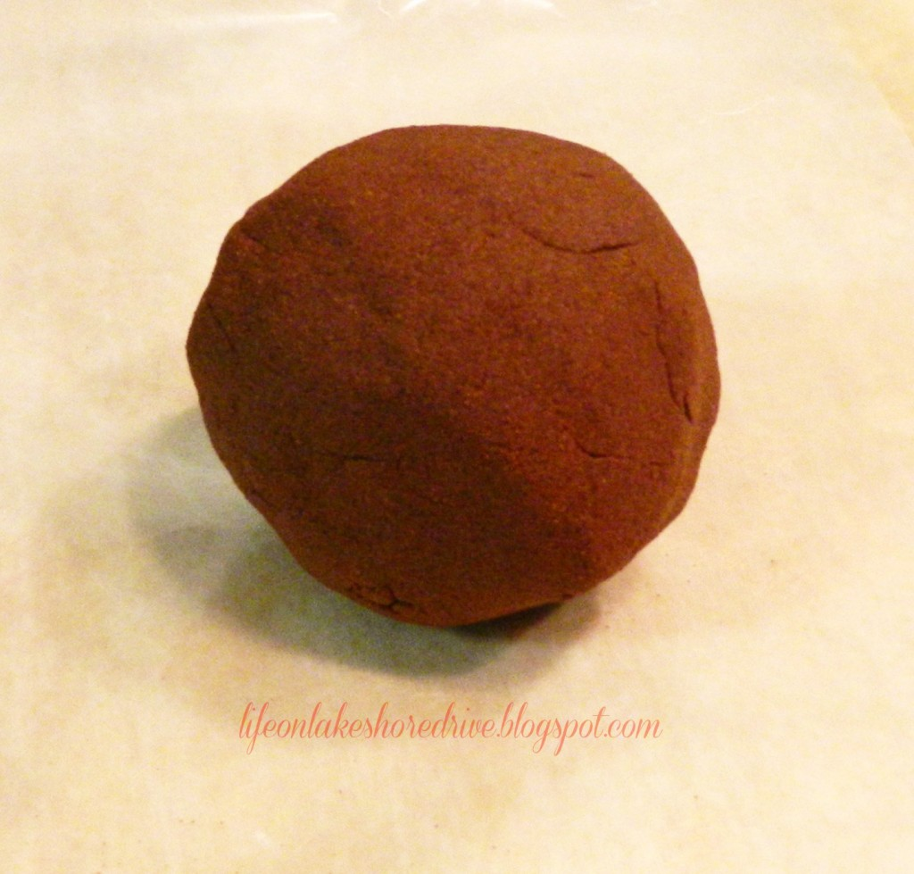 Cinnamon Applesauce Dough rolled into a ball