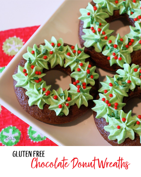 Yummy Christmas Gluten Free Donuts from Sarah Bakes #glutenfree #christmas #recipes #donuts