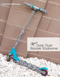 Duck Tape Scooter Makeover {Why get a new scooter when you can transform it into something uniqe and awesome?} #duck#tape#scooter