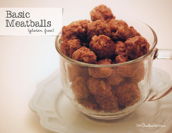 Chili Meatball Supper -- Basic Meatball Recipe with Gluten Free Option {Make sure to hide them until dinner time, or they'll be all gone!} #meatball#chili#gluten#free