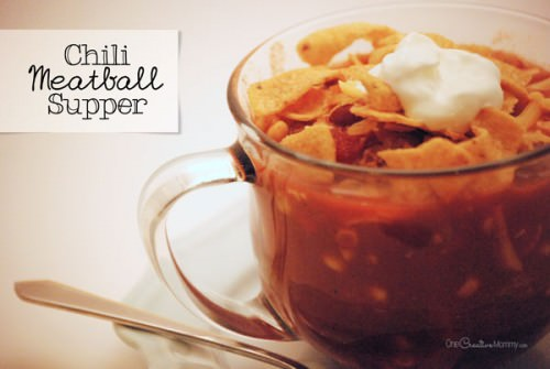 Chili Meatball Supper {Kid-Friendly & Easily Gluten Free} #chili#meatball#gluten#free