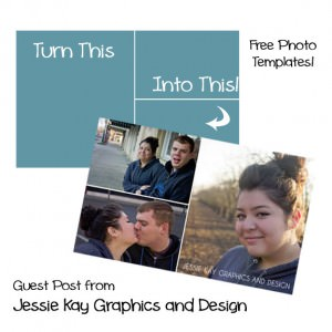 Free Photo Templates from Jessie Kay Graphics and Design {Guest Posting on OneCreativeMommy.com} #free #photo #template