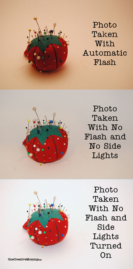 Photo result comparison with lightbox--Tutorial for lightbox on same post at OneCreativeMommy.com