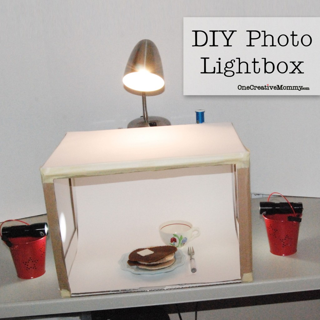 DIY Photo Lightbox Tutorial from OneCreativeMommy.com--grow your blog with better pictures! #diy#lightbox#photography