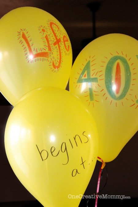 40th Birthday {Life Begins at 40! Silly Party Theme} 2
