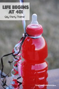 Life Begins at 40! Silly Party Theme {OneCreativeMommy.com} #birthdayparty #40thbirthday