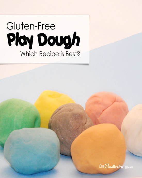 Which Gluten-Free Play Dough Recipe Works the Best? {Recipes and Review from OneCreativeMommy.com}