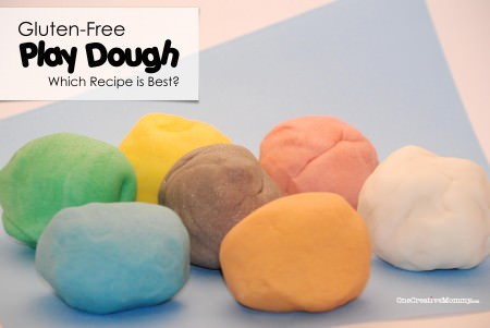 #Gluten #Free #Play #Dough Recipe Review and Tips from OneCreativeMommy.com -- I tried three recipes to see which was the best!