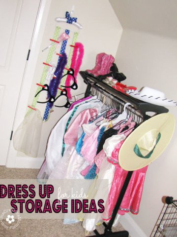 Dress Up Storage Ideas for Kids {OneCreativeMommy.com}