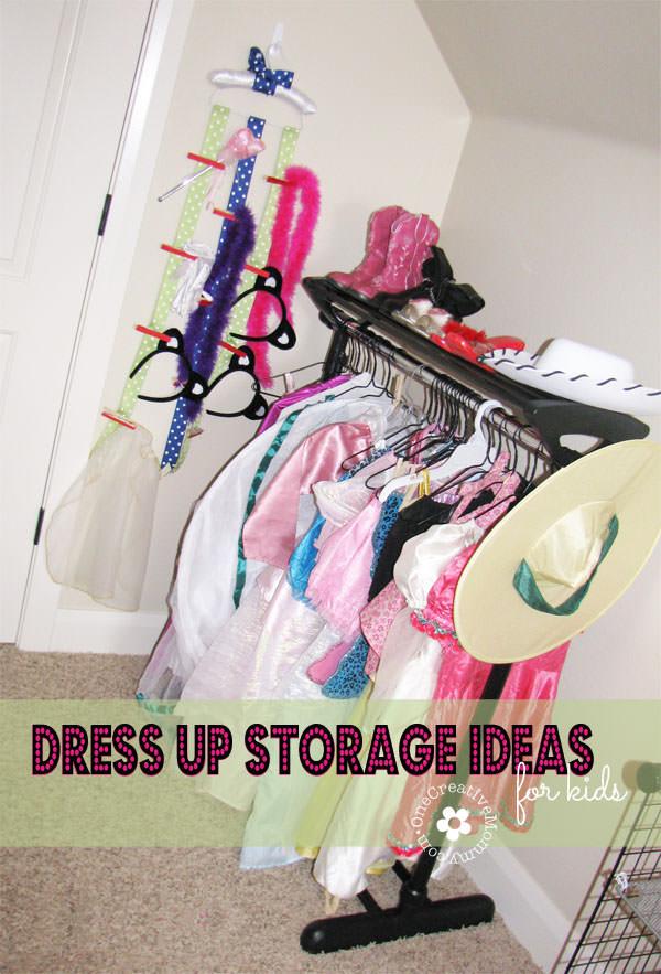 Dress Up Storage Ideas for Kids OneCreativeMommy.com & Dress Up Storage Ideas for Kids - onecreativemommy.com